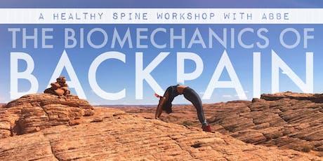 The Biomechanics of Back Pain: Yoga & Movement Workshop tickets