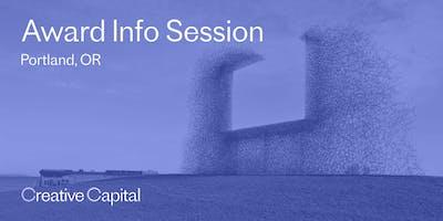 Creative Capital 2020 Award Application Info Session - Portland