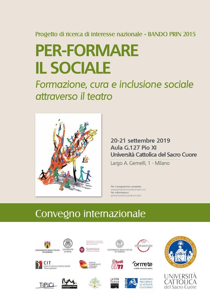 Calendario Unicatt.Convegno Internazionale Per Formare Il Sociale 20 21 09