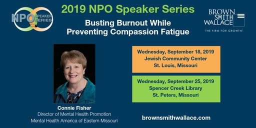 9.25.19 NPO Speaker Series: Busting Burnout While Preventing Compassion Fatigue