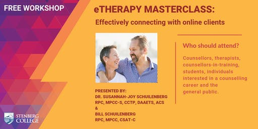 eTherapy Masterclass: Effectively connecting with online clients: A free workshop (August 24)