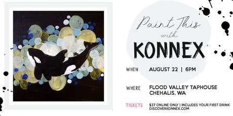 Wine and paint party at Flood Valley Taphouse tickets