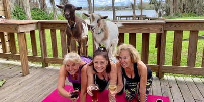 Goat Yoga plus free drink! 8/25/19 In the Loop