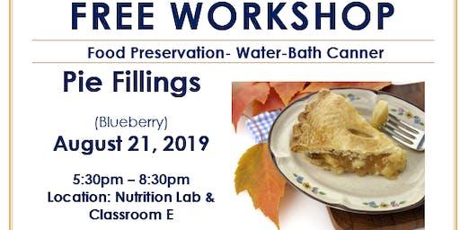 Food Preservation- Blueberry Pie Filling