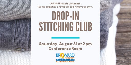 Drop-In Stitching Club: All Skills Levels Welcome!