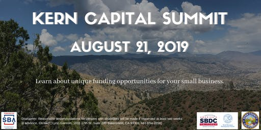 Kern Capital Summit: Fund your business today!