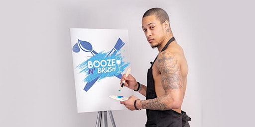Booze N' Brush Next to Naked Sip n' Paint Charleston, SC - Exotic Male Model Painting Event
