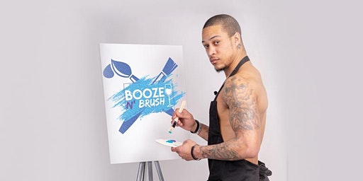 Booze N' Brush Next to Naked Sip n' Paint Indianapolis, IN - Exotic Male Model Painting Event