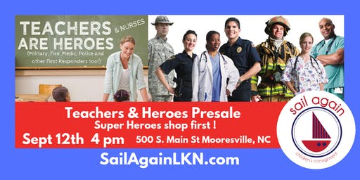 Sail Again's Teachers & Heroes Presale