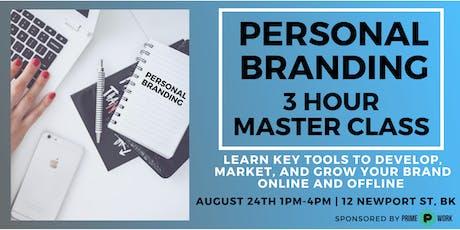 Marketing & Branding Masterclass: Grow Your Brand & Business Online   tickets