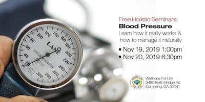 Blood Pressure - FREE Health Seminar