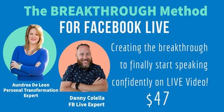 The Breakthrough Method for FaceBook Live tickets