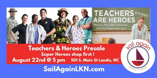 Sail Again's Teachers & Heroes Presale Landis