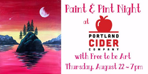 Paint & Pint 'Elk Rock Island' at Portland Cider Co August 22