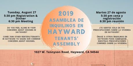 Hayward Tenants' Assembly - August 2019 tickets