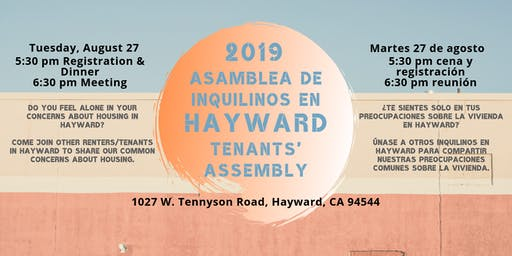 Hayward Tenants' Assembly - August 2019