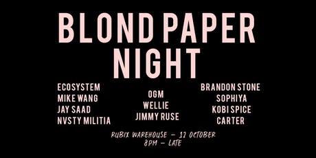 Blond Paper Night tickets