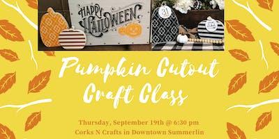 Pumpkin Cutout Craft