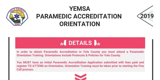 YEMSA: Paramedic Orientation for Accreditation