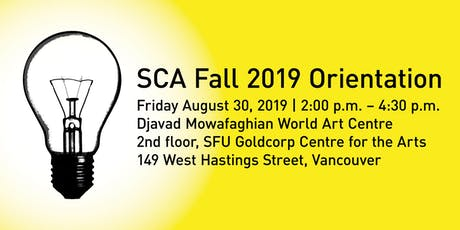 SCA Fall 2019 Orientation tickets