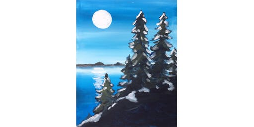 Winter In The Woods Paint & Sip Night - Wine, Beer Included