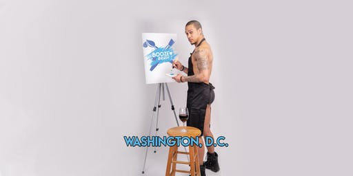 Booze N' Brush Next to Naked Sip n' Paint Washington DC Exotic Male Model Painting Event
