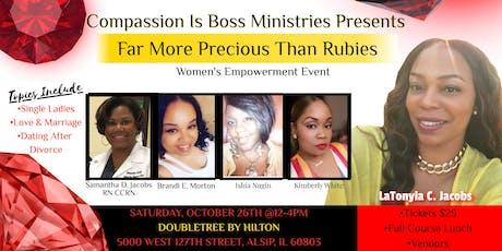 Far More Precious Than Rubies                 Women's Empowerment Event tickets
