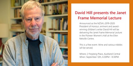 David Hill presents the Janet Frame Memorial Lecture tickets