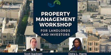 Property Management Workshop for Landlords and Investors tickets