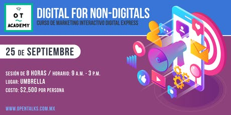 DIGITAL FOR NON DIGITALS - CURSO DE MARKETING INTERACTIVO DIGITAL EXPRESS tickets