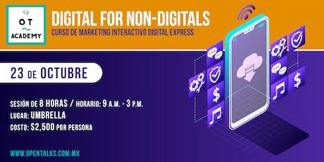 DIGITAL FOR NON DIGITALS - CURSO DE MARKETING INTERACTIVO DIGITAL EXPRESS boletos