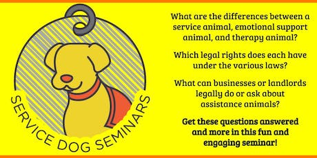 Service Dog Seminar: Learning About Types of Assistance Animals tickets