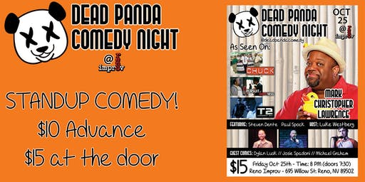 Comedian Mark Christopher Lawrence of CHUCK - Dead Panda Comedy Night