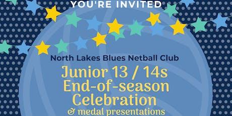North Lakes Blues Netball Junior's Celebration & Awards (13 & 14 years) tickets