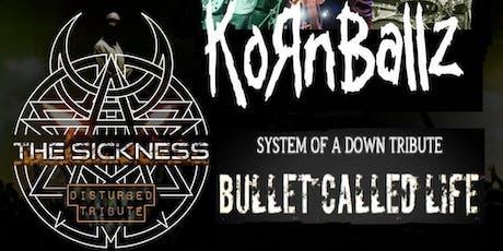Korn, Disturbed & System of a Down Tribute Night tickets