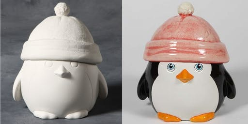 Chubby Penguin Cookie/Candy Jar
