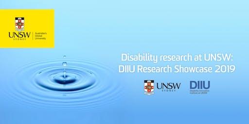 Disability research at UNSW: DIIU Research Showcase 2019