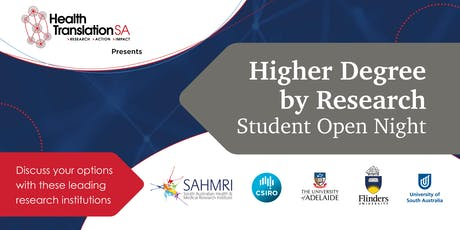 Higher Degree by Research | Student Open Night tickets