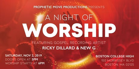 A Night Of Worship Ricky Dillard Boston 2019 tickets
