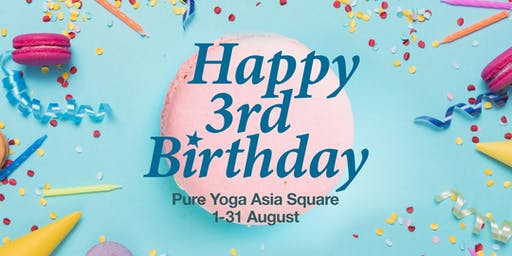 Pure Yoga Asia Square 3rd Anniversary Lunchtime Talks