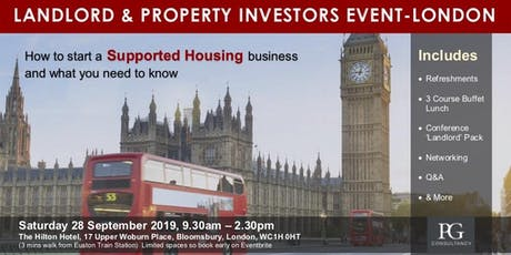 Landlord & Property Investors  - Supported Housing Event tickets