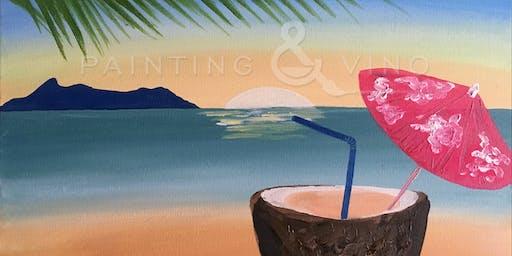 """Sunset Cocktail"" Painting & Vino Art Class"