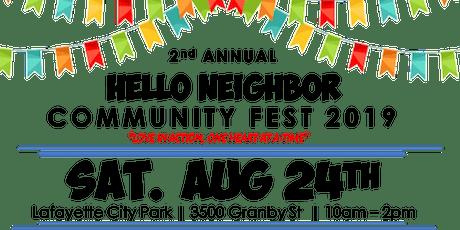 Hello Neighbor Community Fest 2019 tickets