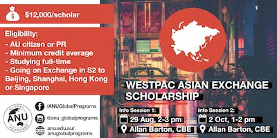 Westpac Asian Exchange Scholarship Info Session 1