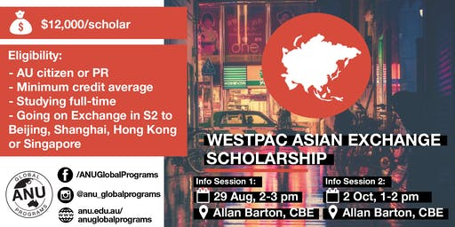 Westpac Asian Exchange Scholarship Info Session 2