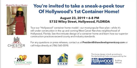 "Hollywood Container Home ""Hard Hat Tour"" tickets"