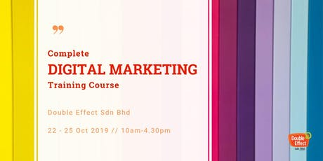 Complete Digital Marketing Training Course (OCT) tickets