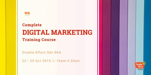 Complete Digital Marketing Training Course (OCT)