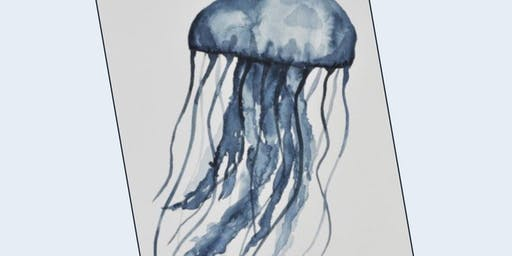 Crafternoon: Salt Watercolor Jellyfish