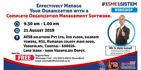 Effectively Manage Your Organization with a Complete Organization Management Software. Practice & Use  Accounting & CRM Software for FREE. (21 August 2019) tickets